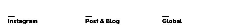 Instagram, Post & Blog, Global