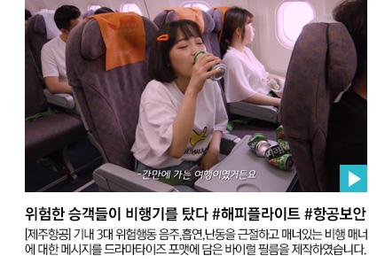 위험한 승객들이 비행기를 탔다 #해피플라이트 #항공보안